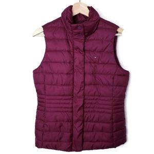 Tommy Hilfiger Burgundy Puffer Vest Size Small